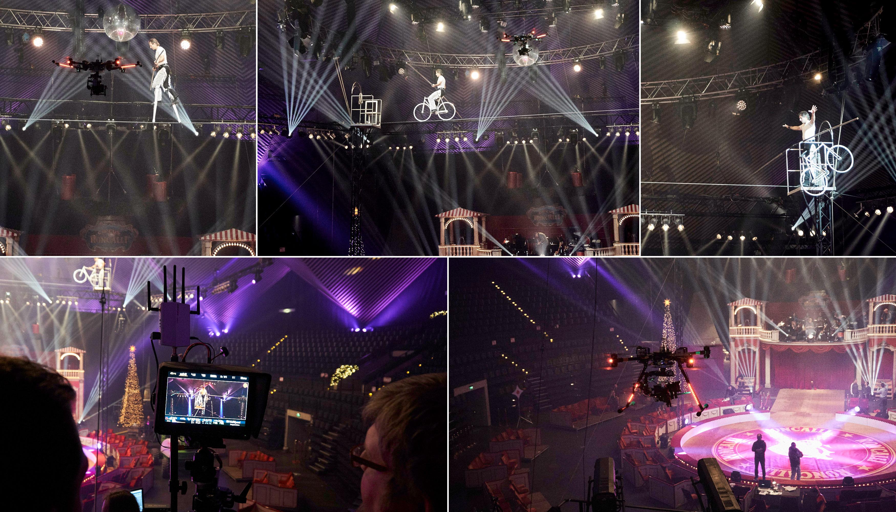 Stereoscreen, Freddy Nock, Circus Roncalli, Making of