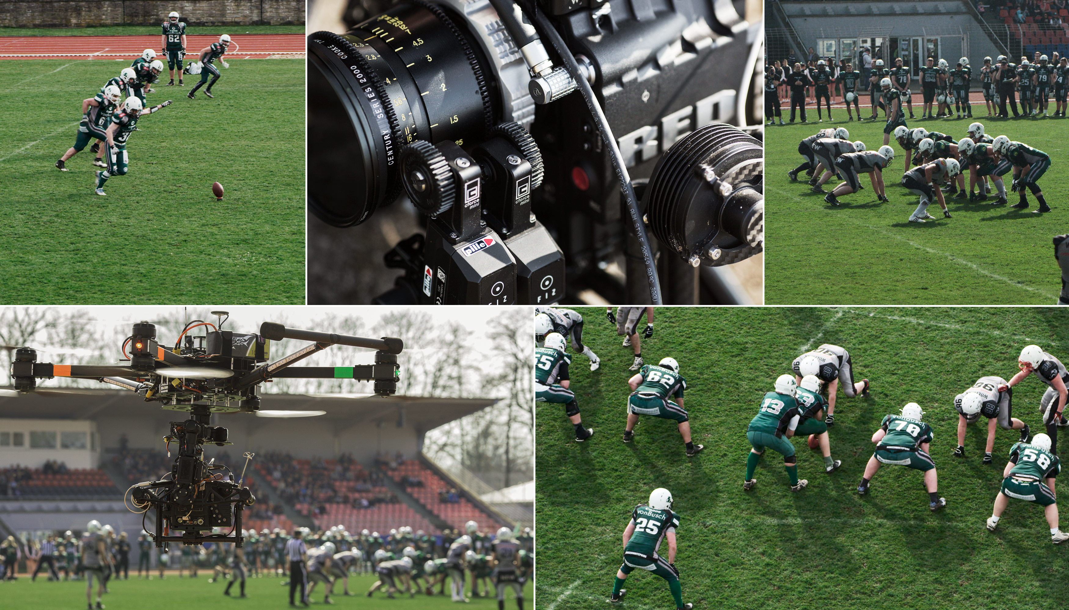 kopterwork bulldogs making of american football RED epic follow focus cooke